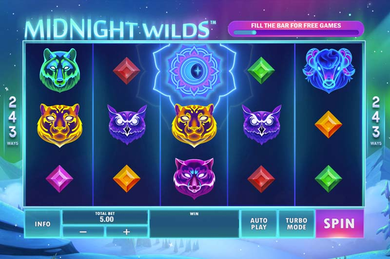 New Slot Release By Playtech Origins: Midnight Wilds