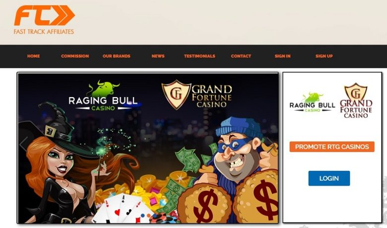 Raging Bull Casino Affiliate Program