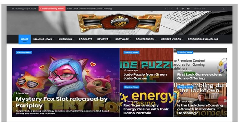 Casino Gazette Unveils A New Look One Year After It's Re-Launch