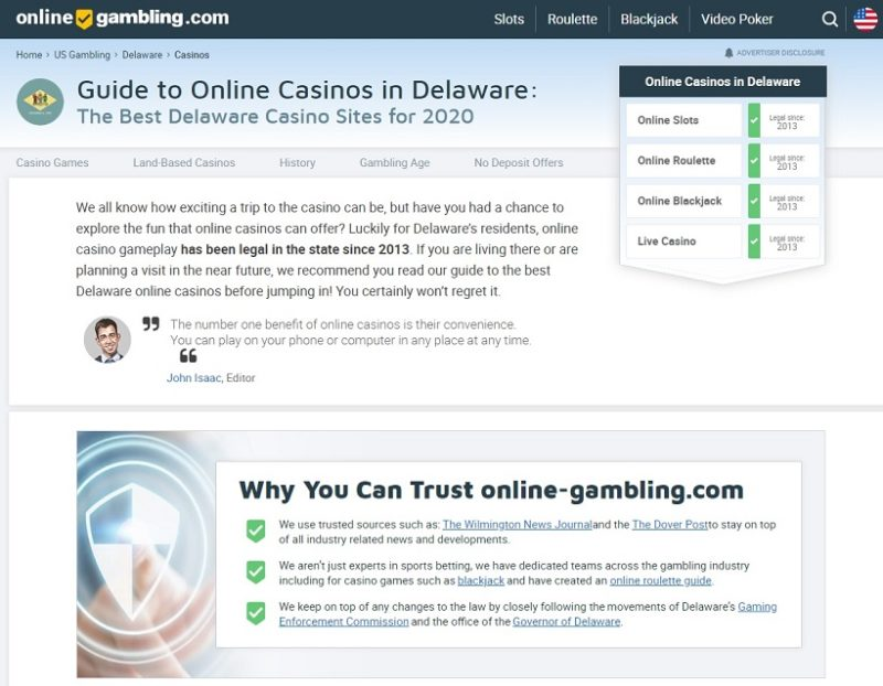 Why Delaware Boasts Some Of The Best Online Casino Sites