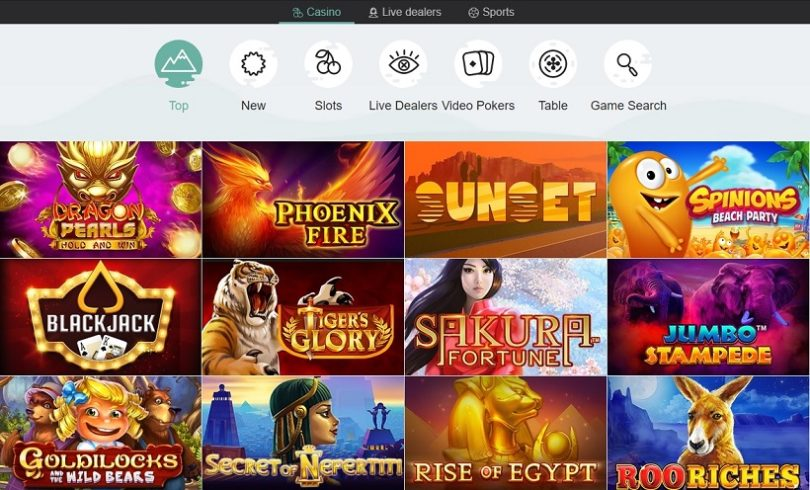 Golden Reels Casino Games Offered