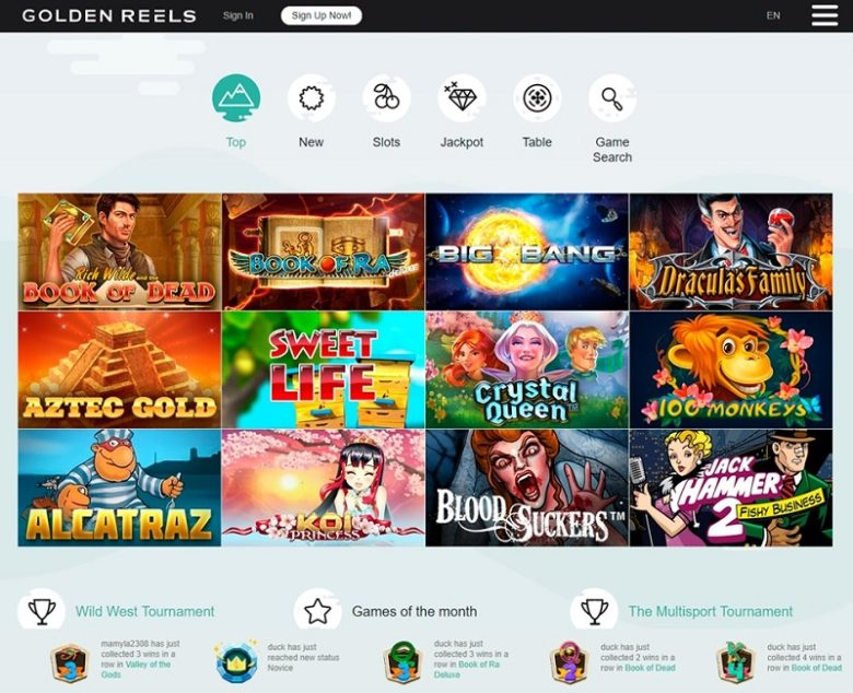 Golden Reels Casino General Overview