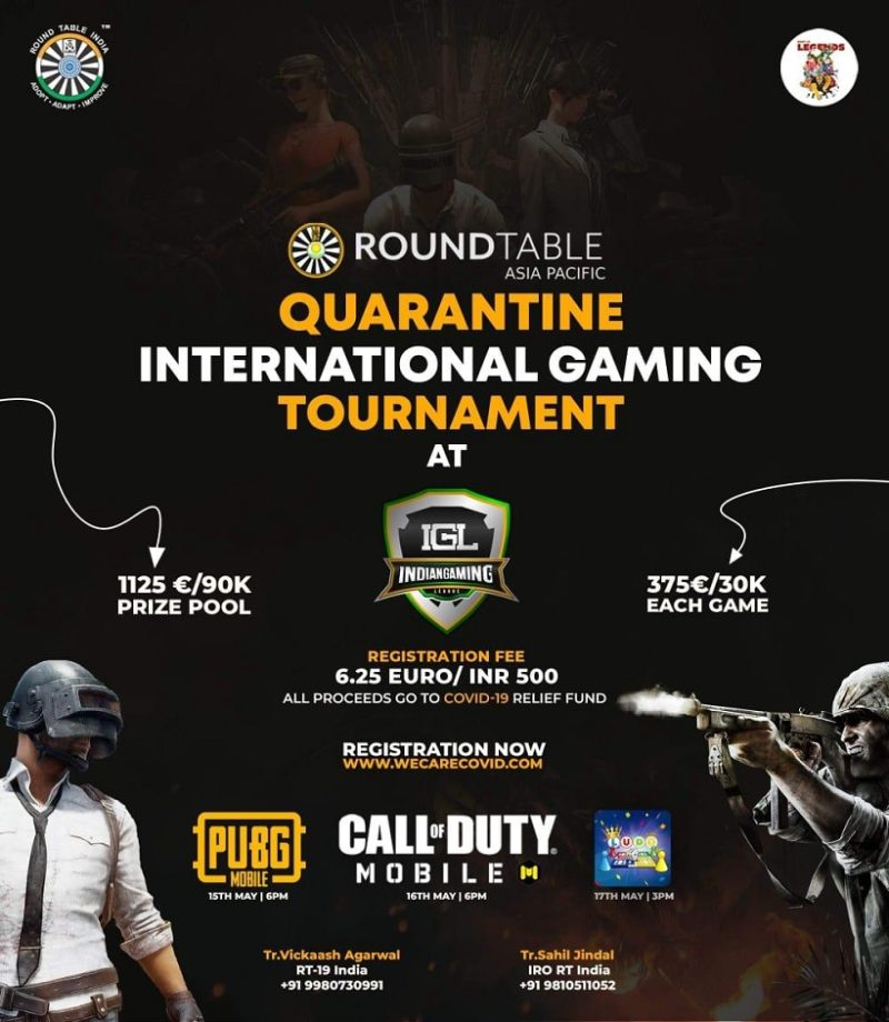 Indian Gaming League (IGL) To Raise Funds For COVID Relief