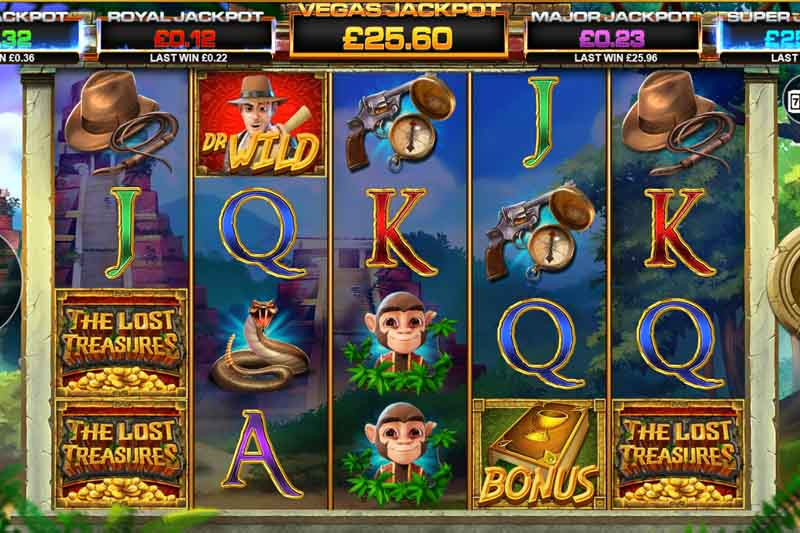 The Lost Treasures - New 20 Line Slot From Blueprint Gaming