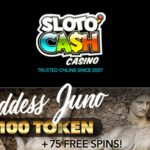 $100 TOKEN + 75 Free Spins At Sloto Cash Casino