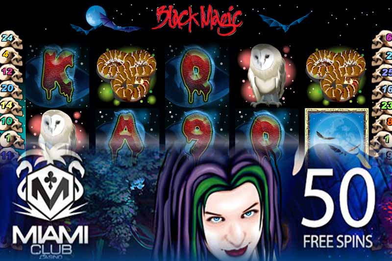 Claim 50 Free Spins on Black Magic Slot