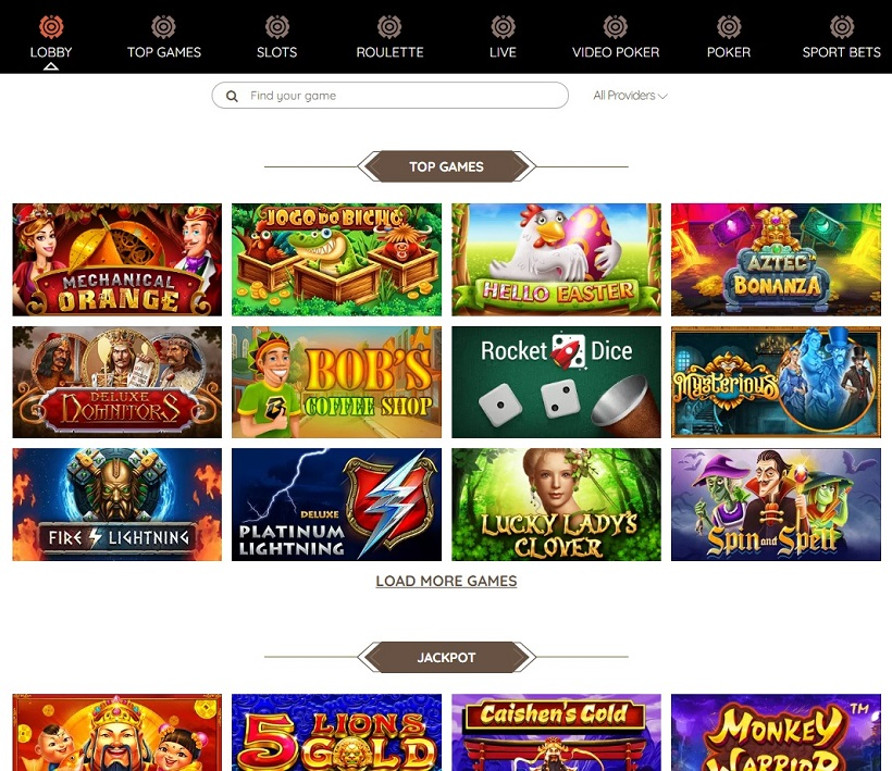 FortuneToWin Casino Games Offered