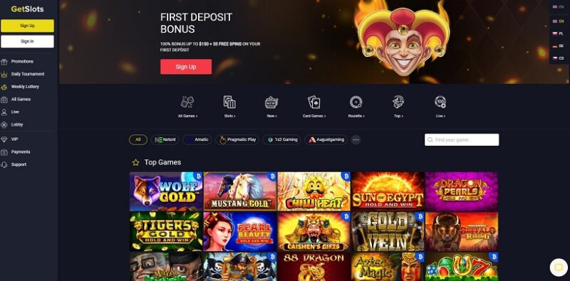 GetSlots casino general overview