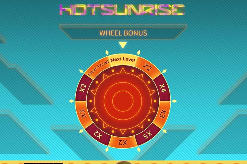 Hot Sunrise Features Bonus Wheel