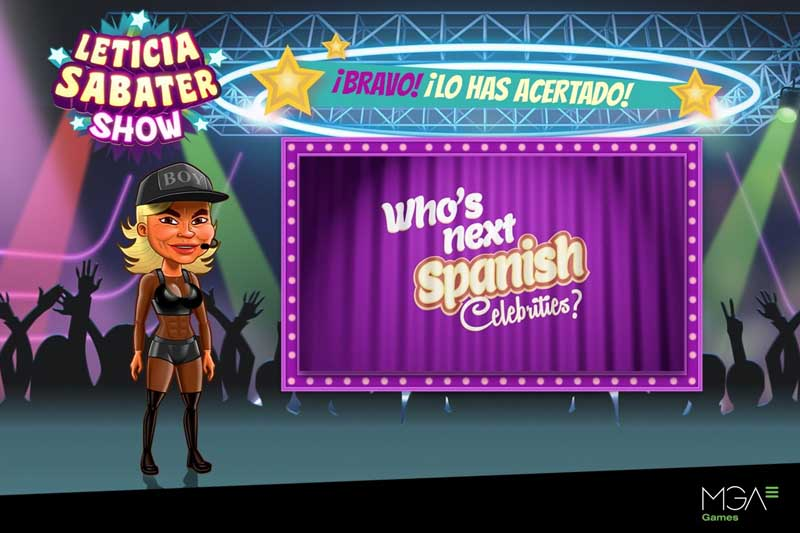 Game Developer MGA Games Unveil Leticia Sabater As New Face For Spanish Celebrity Slots