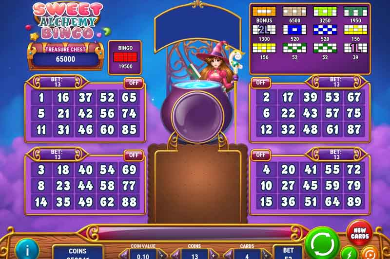 Sweet Alchemy Bingo - New Multiline Slot Bingo With Bonus From Play'n Go