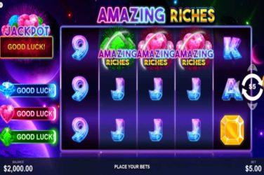 Amazing Riches - New 5x3 Slot From Pariplay
