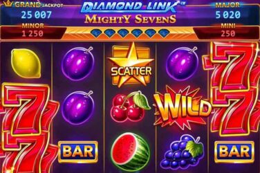 Diamond Link Mighty Sevens - New 25 Line Slot From Greentube