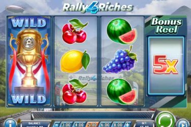 Rally 4 Riches - New Bonus Reel Slot From Play'n Go
