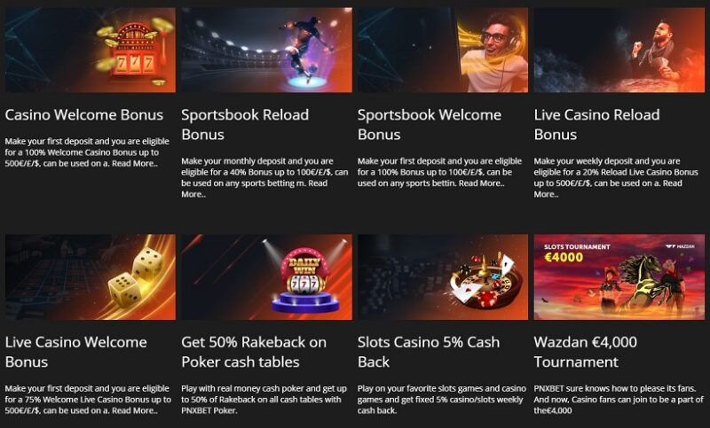 PNXBet Casino And Sportsbook Bonuses And Promotions