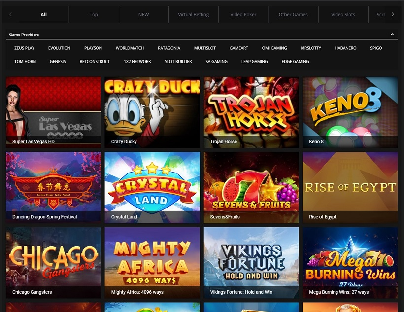 PNXBet Casino And Sportsbook Casino Games Offered