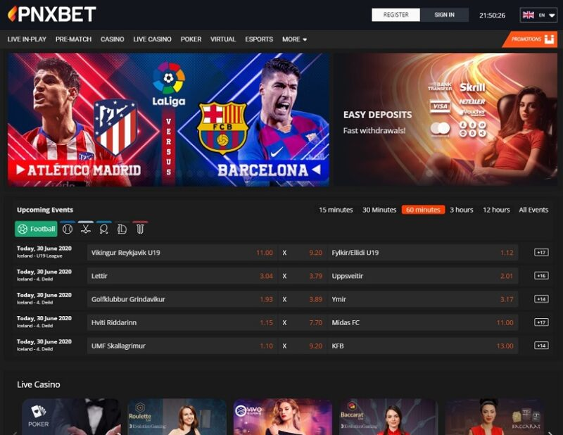 PNXBet Casino And Sportsbook General Overview