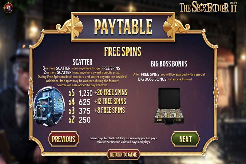 The Slot Father Part II Free Spins
