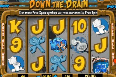Get 50 Free Spins No Deposit On Down The Drain Slot