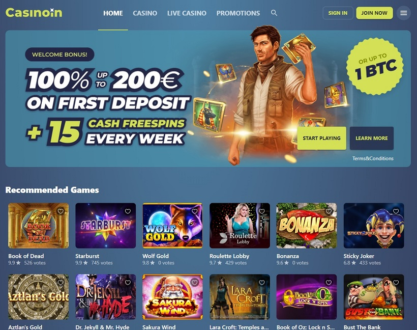 Casinoin General Overview