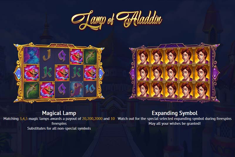 Lamp Of Aladdin Slot Features
