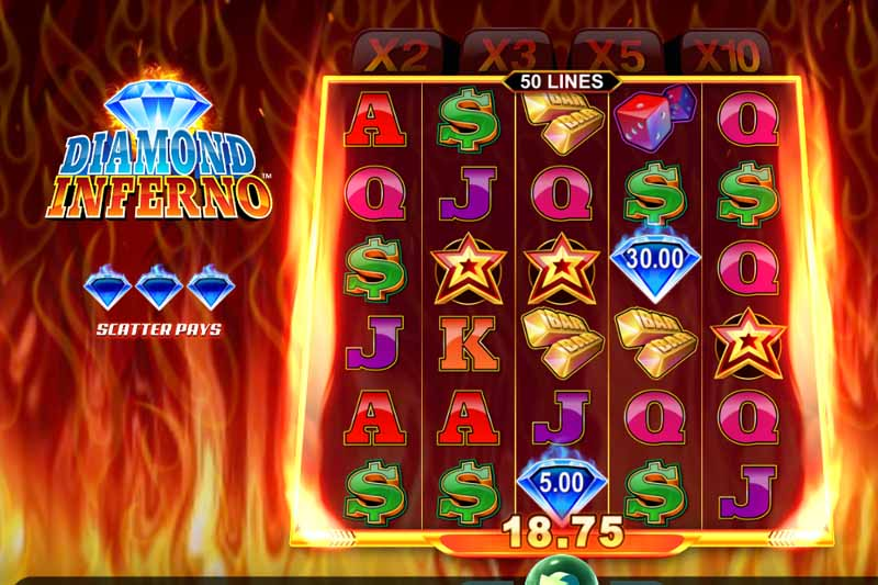 Microgaming's Diamond Inferno Sure To Delight And Excite Players