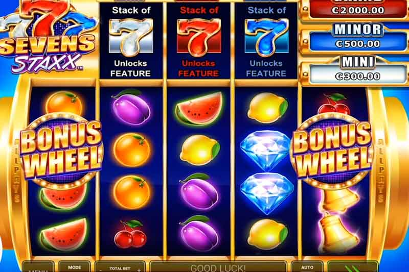 Novomatic Greentube Release Sevens Staxx Slot With 1024 Ways To Win