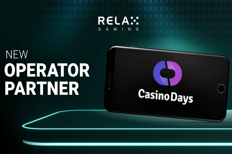 New Operator Partnership With Casino Days For Relax Gaming