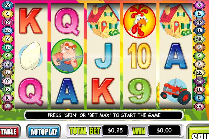 50 No Deposit Free Spins On Funky Chicken Slot