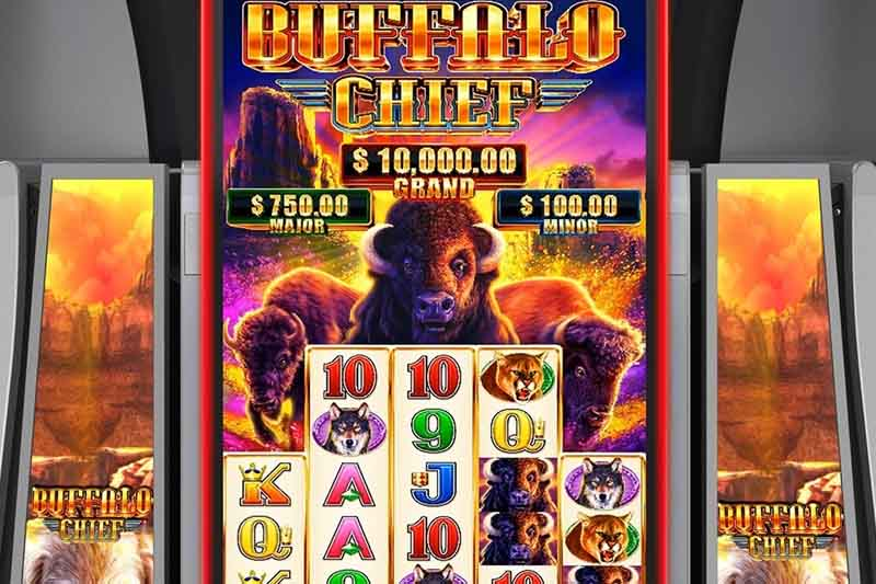 Aristocrat Technologies Premiere Buffalo Chief Slot Cabinet At Seminole Hard Rock Hollywood