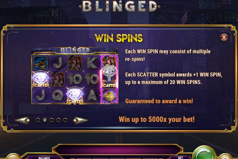 Blinged Slot Features