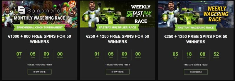 Fastpay Casino Tournaments