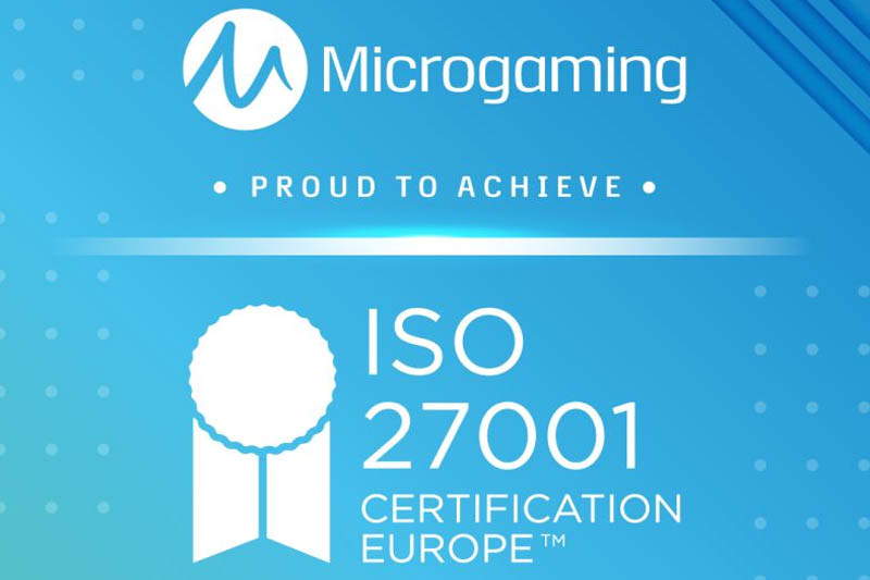 Microgaming Awarded Information Security Management System ISO