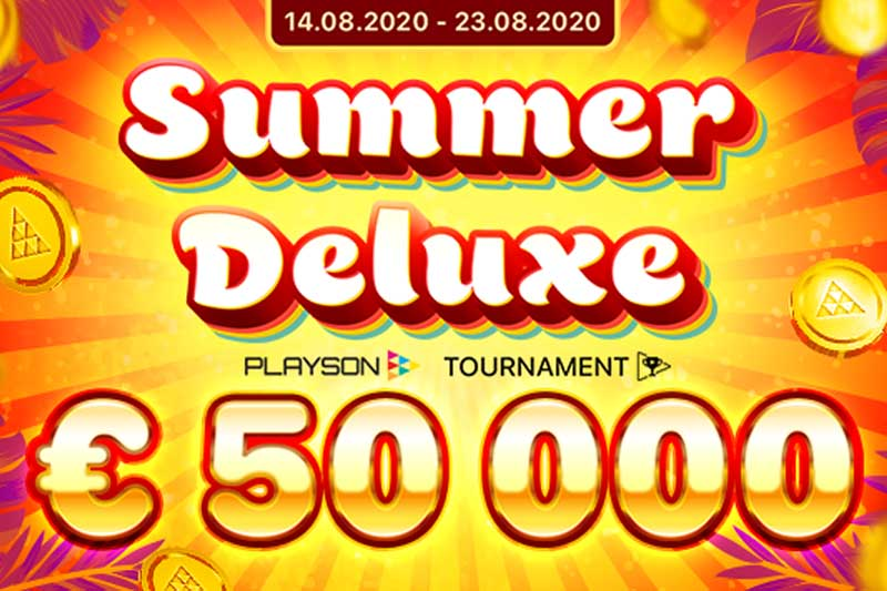 Playson Announce New €50k Summer Deluxe Slot Tournament