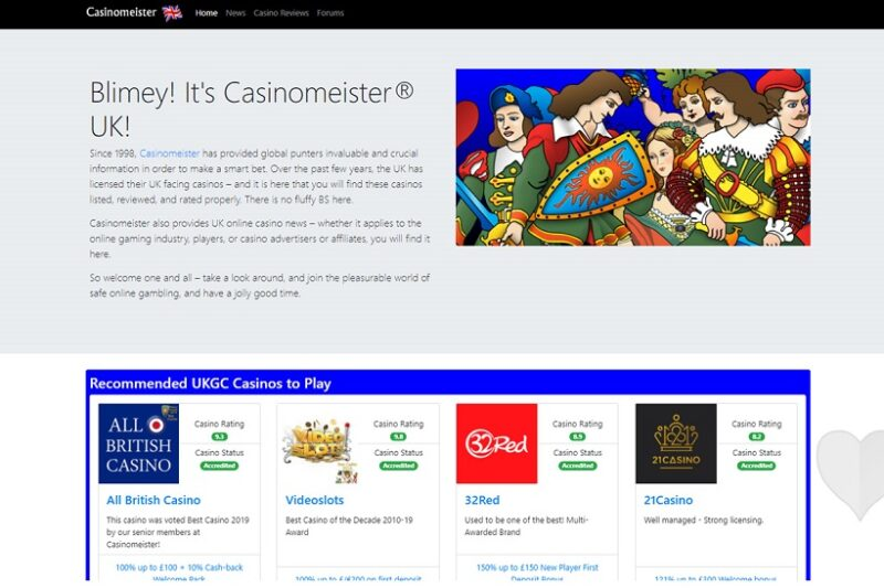 Casinomeister UK Reopens After Site Redesign And Overhaul