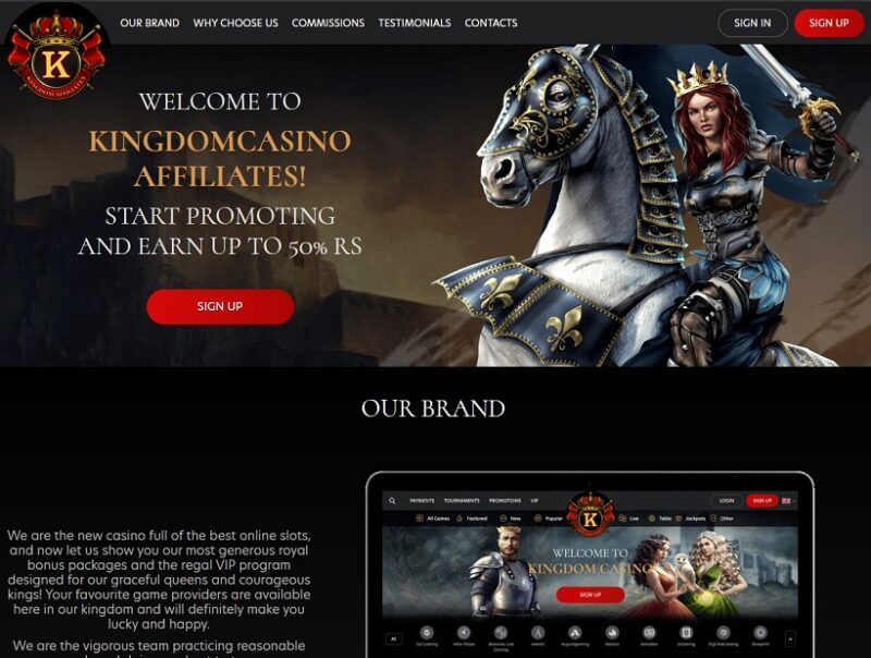 Kingdom Casino Affiliate Program