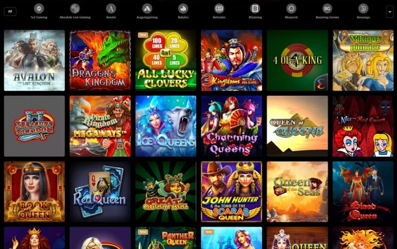 Kingdom Casino Games Offered