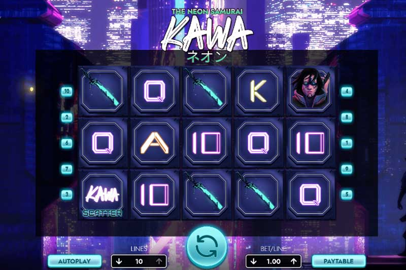 Arcadem Releases Kawa The Neon Samurai Video Slot