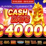 Playson To Launch €40k October CashDays Network Tournament