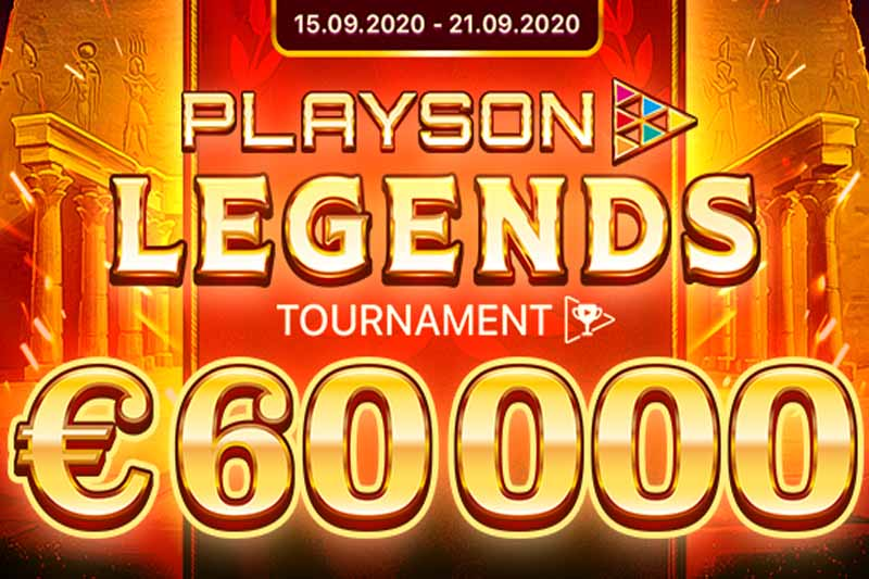 New €60k Playson Legends Slot Tournament Launches Today
