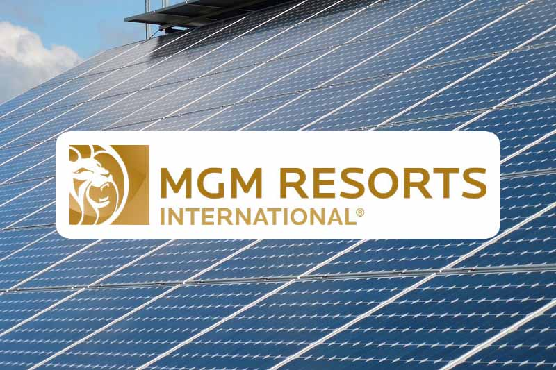 SEIA Solar Energy Recognition For Casino Operator MGM Resorts