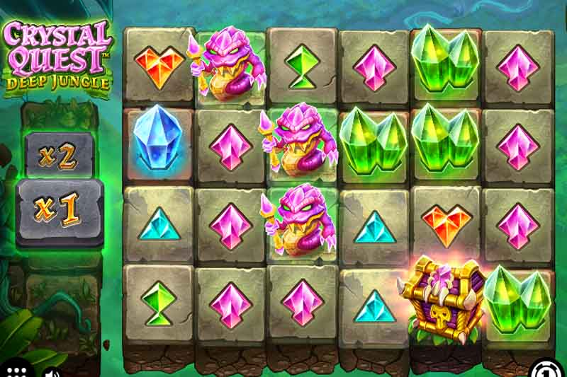 Crystal Quest Deep Jungle - New Thunderkick Slot Release