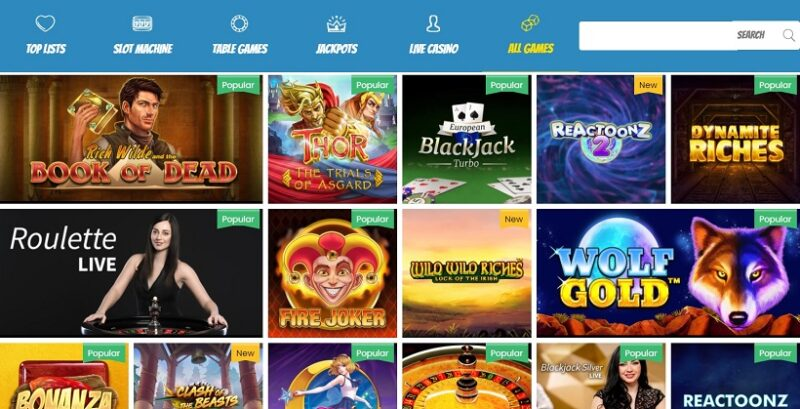 Play Jango Casino Games Offered