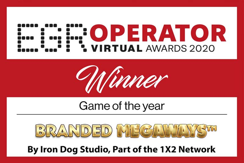1x2 Network's Branded Megaways Wins Game Of The Year At EGR Global