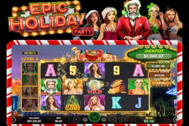 Get 30 Free Spins On New Slot Game Epic Holiday Party [Coupon]
