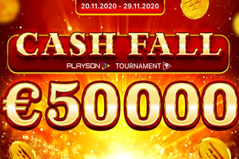 'Cash Fall' - Playson's Newest Slot Tournament Goes Live