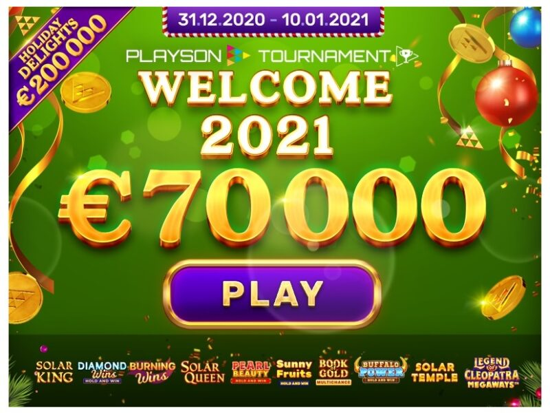 Welcome 2021 Playson €70000 Network Tournament