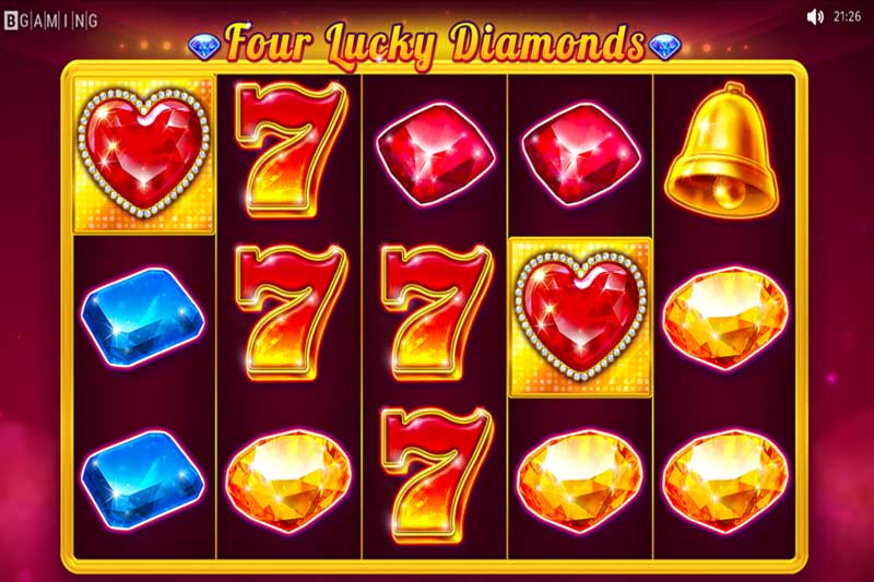 FourLuckyDiamonds is the newest slot release from BGaming