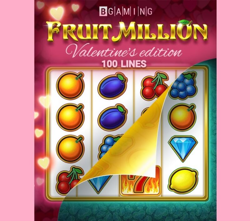 Fruit Million ediția Valentine's - 100 de linii