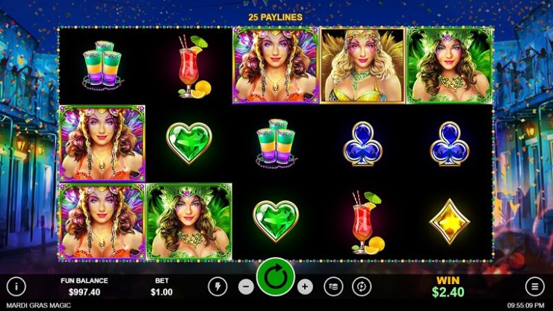Gratis spins welkomstbonus en gratis couponcode voor Mardi Gras Magic-slot